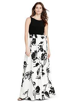 Lauren Ralph Lauren Jersey Taffeta Gown