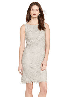 Lauren Ralph Lauren Metallic-Lace Sheath Dress