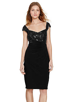 Lauren Ralph Lauren Sequined Sheath Dress