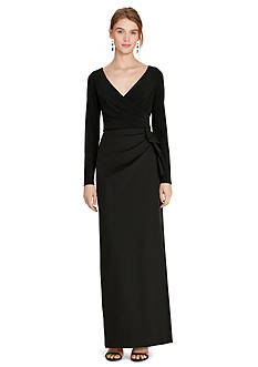 Lauren Ralph Lauren Pleated Jersey Gown