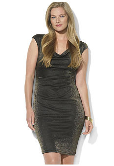Lauren Ralph Lauren Metallic Cowl Neck Dress