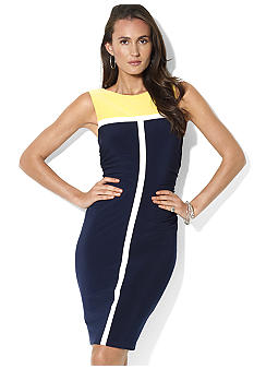 Lauren Ralph Lauren Sleeveless Color-Blocked Dress