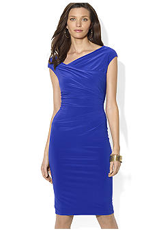 Lauren Ralph Lauren Cap-Sleeved Matte Jersey Sheath Dress