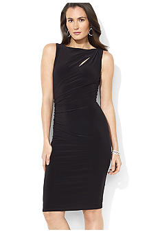 Lauren Ralph Lauren Sleeveless Matte Jersey Cutout Dress