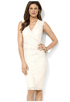 Lauren Ralph Lauren Sleeveless Lace and Sequin Dress