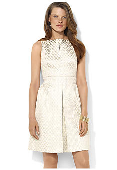 Lauren Ralph Lauren Sleeveless Metallic Dress