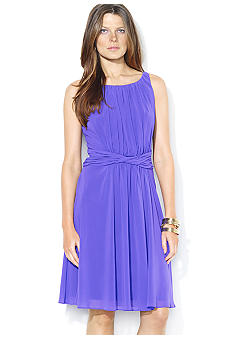 Lauren Ralph Lauren Shirred Georgette Dress