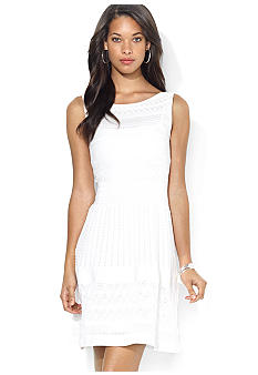 Lauren Ralph Lauren Sleeveless Pointelle Dress