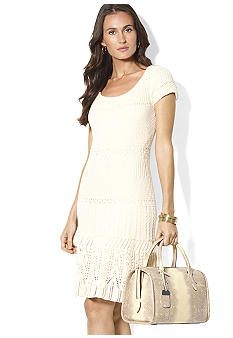 Lauren Ralph Lauren Short-Sleeved Pointelle Dress
