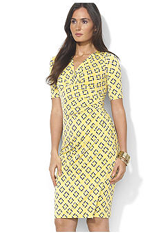 Lauren Ralph Lauren Elbow Sleeved Empire Waist Dress