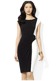 Lauren Ralph Lauren Two-Toned Boatneck Dress