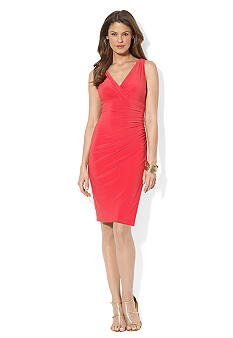 Lauren Ralph Lauren Ruched Jersey Empire Dress