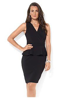 Cap-Sleeved Peplum Dress