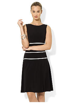 Lauren Ralph Lauren Sleeveless Striped Jersey Dress