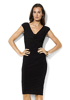 Lauren Ralph Lauren Matte Jersey Cowl Neck Dress<br>