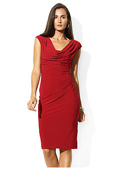 Lauren Ralph Lauren Cowl Neck Jersey Dress