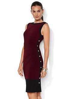Lauren Ralph Lauren Sleeveless Color Blocked Jersey Dress
