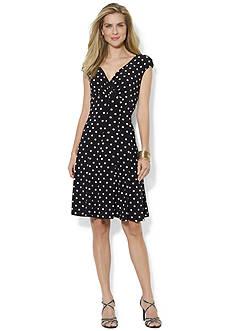 Lauren Ralph Lauren Printed Paneled Skirt Dress<br>