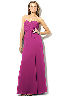 Lauren Ralph Lauren Floor-Length Strapless Gown<br>