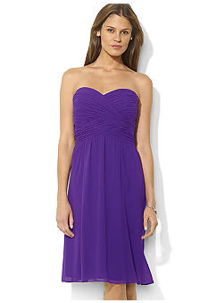 Lauren Ralph Lauren Ruched Sweetheart Dress<br>