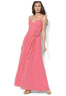 Lauren Ralph Lauren Long Georgette Dress