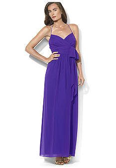 Lauren Ralph Lauren Long Georgette Dress<br>