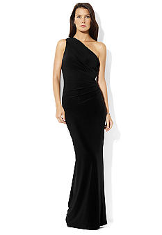Lauren Ralph Lauren Channa Long One Shoulder Dress