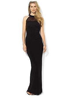 Lauren Ralph Lauren Sleeveless Beaded Matte Jersey Empire Gown