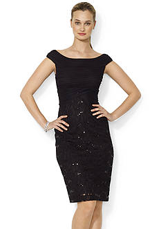 Lauren Ralph Lauren Sequined-Lace Dress
