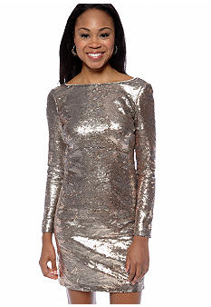 Jessica Simpson Long Sleeve Sequin Dress