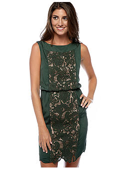 Jessica Simpson Sleeveless Lace Overlay Dress