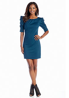 Jessica Simpson Three-Quarter Sleeve Ponte Shift Dress