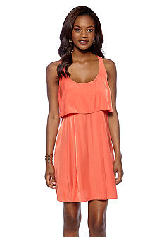 Jessica Simpson Sleeveless Popover Overlay Tank Dress