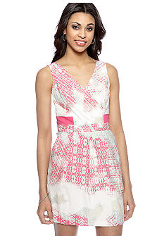 Jessica Simpson Sleeveless Printed Dress with Open Back