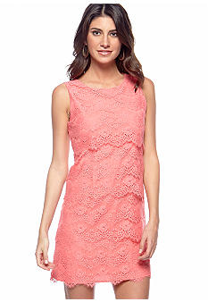 Jessica Simpson Allover Lace Tiered Dress