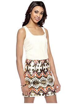 Jessica Simpson Racerback Tank Dress with Sequin