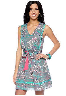 Jessica Simpson Sleeveless Printed Dress