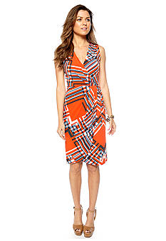 Jessica Simpson Sleeveless Crossover V-Neck Dress
