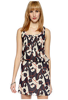 Jessica Simpson Racer Back Tank Blouson Printed Dress