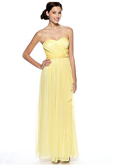 Jessica Simpson Strapless Gown with Cascade Ruffles