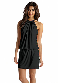 Jessica Simpson Necklace Halter Blouson Dress