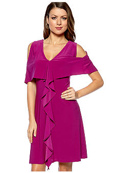 Jessica Simpson Sleeveless Ruffle Front Dress