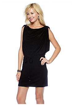 Jessica Simpson Sleeveless Drawstring Dress with Shoulder Loop Tabs