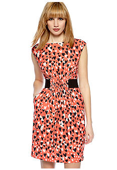 Jessica Simpson Cap-Sleeved Printed Dress
