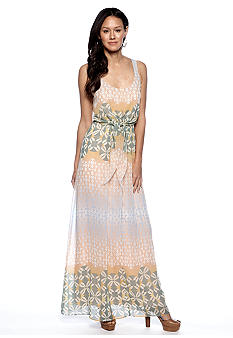 Jessica Simpson Sleeveless Printed Maxi Dress