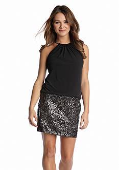 Jessica Simpson Short Halter Party Dress