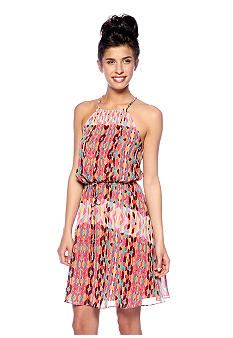 Jessica Simpson Halter Printed Blouson Dress