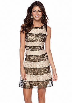 Jessica Simpson Sleeveless Allover Lace A-Line Dress