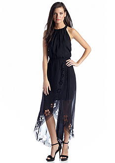 Jessica Simpson Halter High-Low Maxi Dress