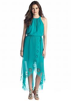 Jessica Simpson Halter High-Low Maxi Dress